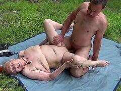 best of Outdoor dick chubby lick shaved