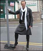 best of Wearing public in Men pantyhose