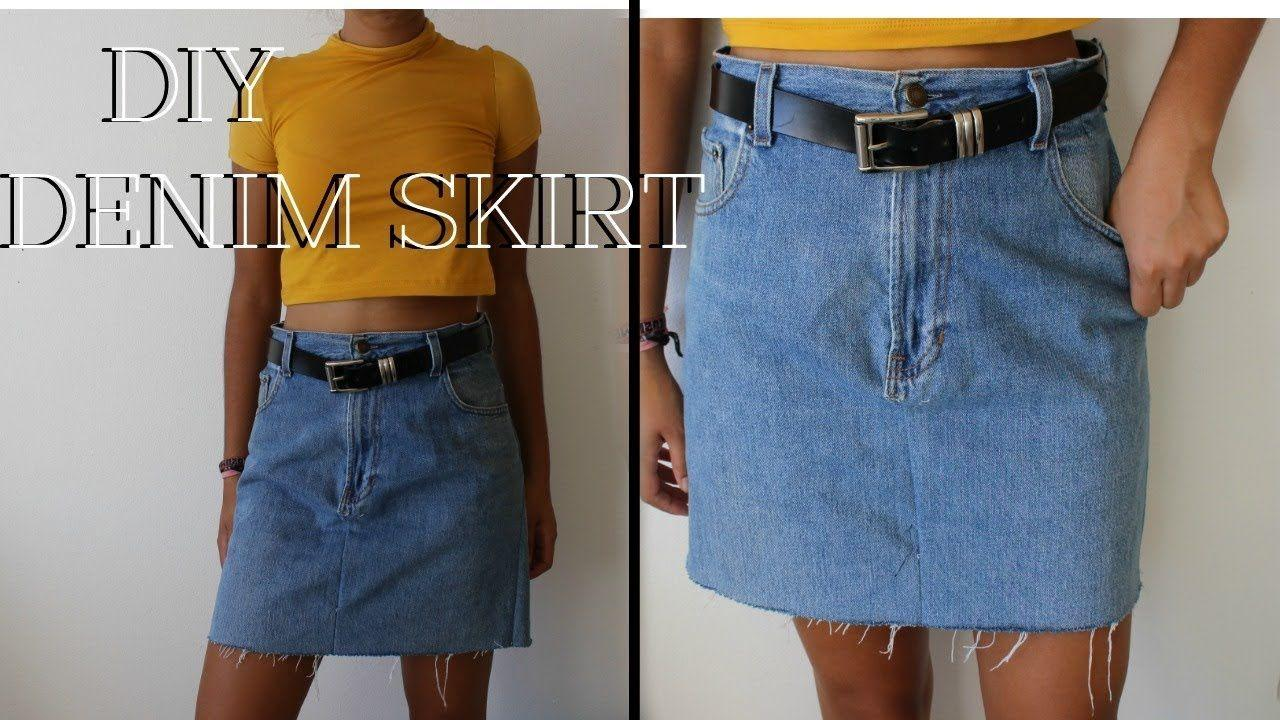 Canine reccomend How to make a denim skirt from jeans