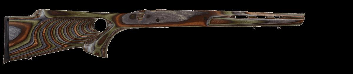 Gun hole stock thumb