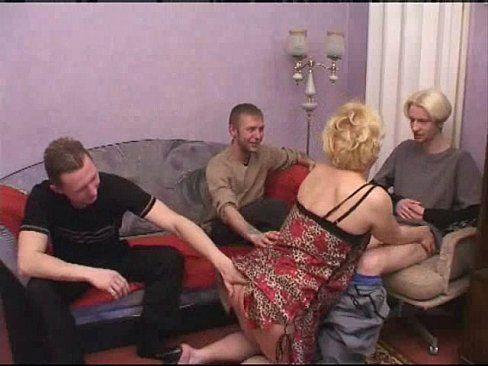 Mother and son gangbang