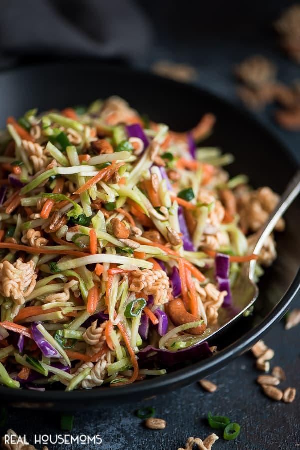 Sticks reccomend Asian ramen broccoli slaw