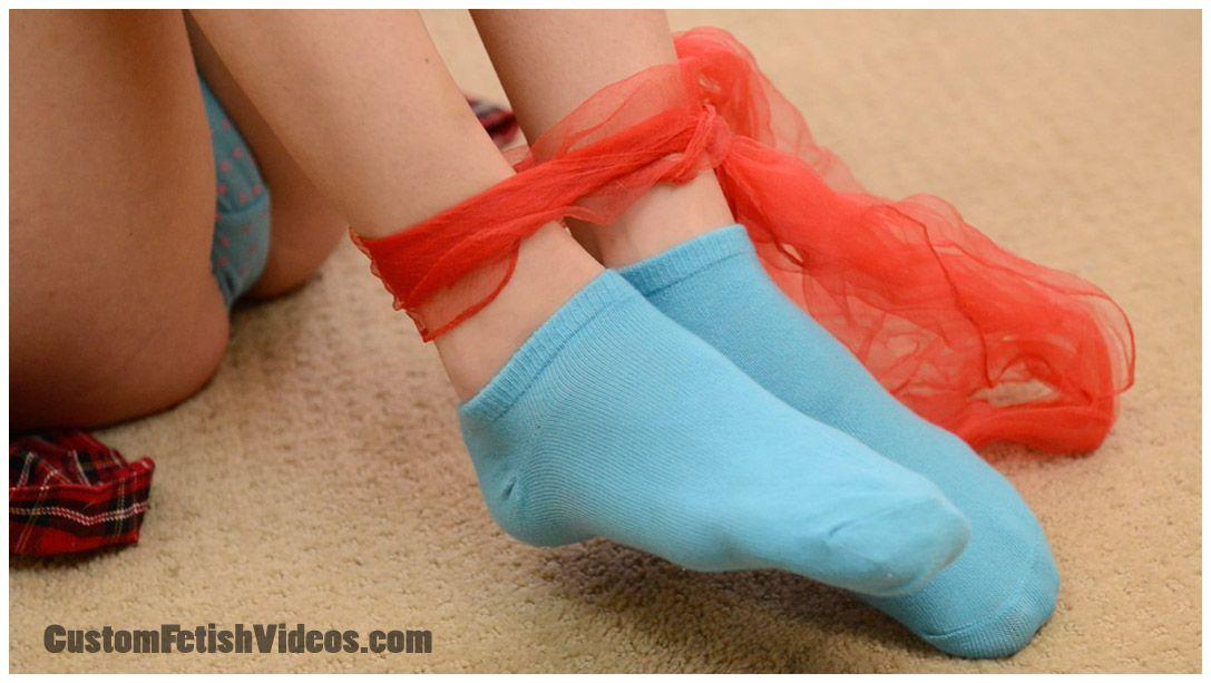 tied beauties with sock fetish