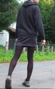 Men wearing pantyhose in public