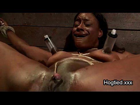 Muscular woman bondage and vibrator video
