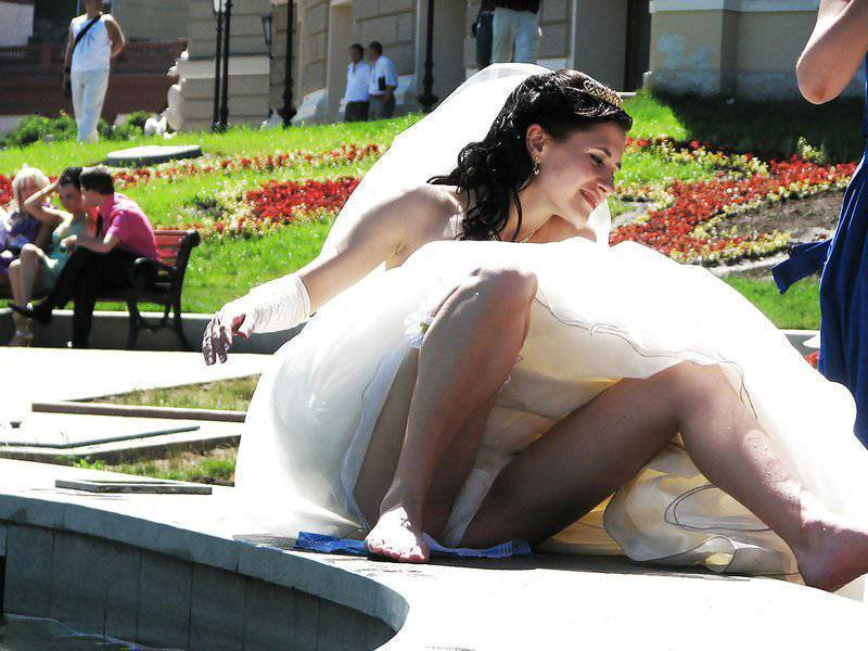 Amusing answer Bride and wedding upskirt photos speaking, obvious